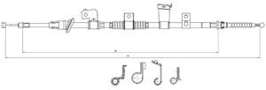 Vajer, parkeringsbroms, Vänster bak