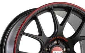 BBS CH-R Satin Black Red