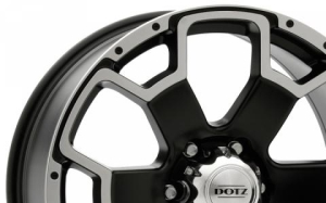 Dotz Desert Matt Black Polished