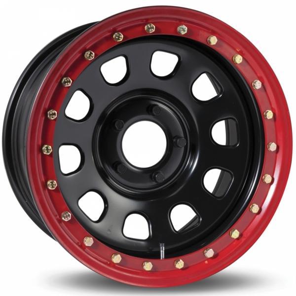 EURASTEEL M4 BLACK/RED Felg