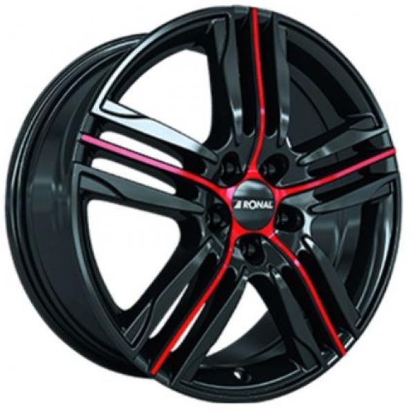 Ronal R57 Gloss Black Red Fälg